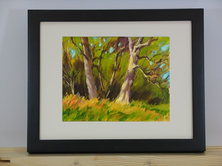 Leaning Oaks Framed
