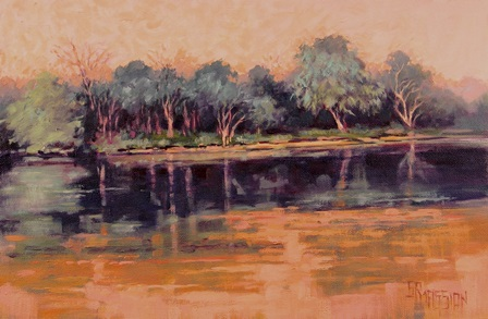 River In Aubergine