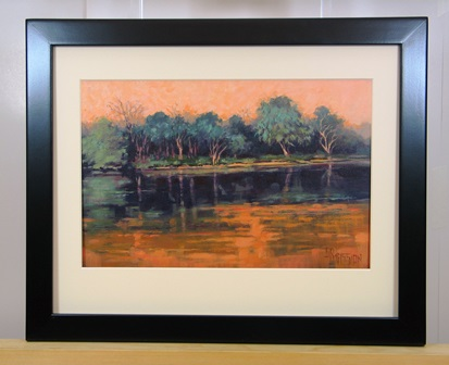 River In Aubergine Framed