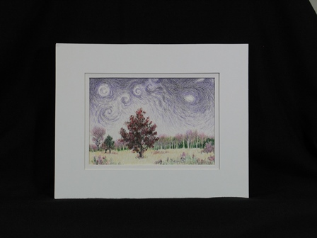 Starry Night Over One Scarlet Oak Setting