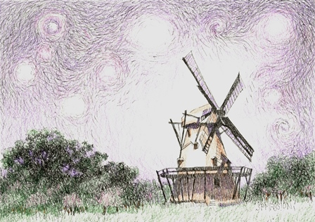 Starry Night Over The Last Windmill
