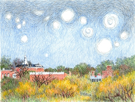 Starry Night Over Wheaton - Wheaton College