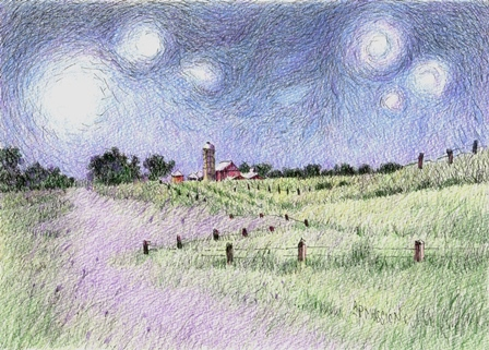 Starry Night Pasture