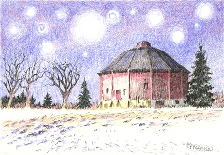 Starry Night Over The Last Barn
