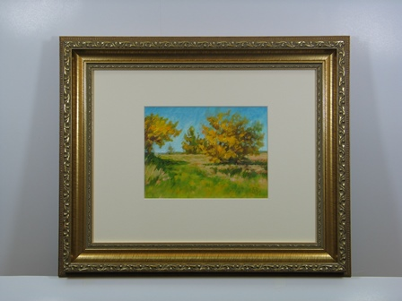 Yellow Bush Trail Framed